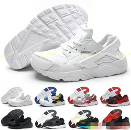 Wholesale Boys Medium - New Kid Air Huarache Sneakers Shoes For Boys Grils Children Trainers Hurache Youth Kids Huaraches Sports Running Shoes Boost Size 28-35