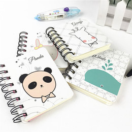 Wholesale Panda Papers - 2017 Kawaii Cute Panda Pvc Daily Weekly Planner Spiral Notebook Day Plan Diary Notebook Time Organizer School Supplies Agenda