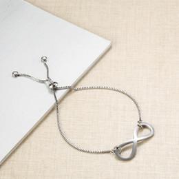 bracelets infinis pour couples Promotion Acier inoxydable Éternelle 8 Mots Bracelet Accessoires Bijoux Amitié Amitié Couples Cadeaux Infinity Bracelet Bijoux