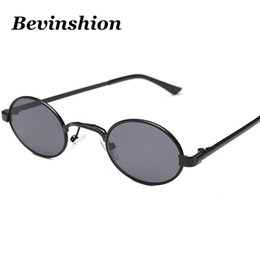 fd6cacb28bd Vintage Cool Mini Small Oval Sunglasses Women New Arrival 2018 Black Glasses  Clear Metal Frame Red Yellow Brand Designer Shades