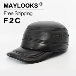 2018 Direct Selling Adult Maylooks New Fashion Men s Scrub Béisbol de cuero  genuino de Invierno Cálido Sombrero   Casquillo Para Sombreros Casuales Cs53 4dc11ae54f6