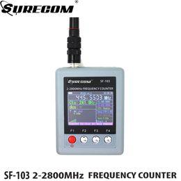 2019 auriculares pola motorola Nuevo SURECOM SF-103 Walkie Talkie Frequency Meter Contador de frecuencia de radio portátil 2MHz ~ 2.8GHz SF103 para DMR Analog Two Way Radio