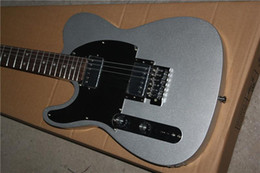 Wholesale Grey Electric Guitars - Free Shipping Factory Custom new rosewood fingerboard,black pickguard Silver grey color left hand TL Electric Guitar 16 131