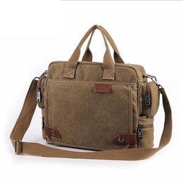 Solid color Canvas Men Handbag Tote Bag Casual Men Travel Shoulder  Messenger Crossbody Bag Satchel Vintage Sling Laptop 1101 97ff1feba05a1