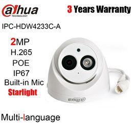 domo de cámara ip 2mp dahua Rebajas Dahua IPC-HDW4233C-A original de 2MP 1080P H.265 H.264 cámara IP domo Starlight IR 50m incorporada cámara de red IP67 IP HDW4233C-A