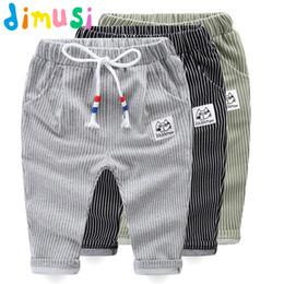 Wholesale childrens harem pants - DIMUSI Spring Childrens Pants Sweatpants Boys Cotton Stripe Trousers Autumn Sweat Pants for Kids Harem Pants 12M-4T,EA004