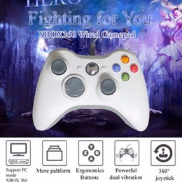 Xbox 360 Oyun Aksesuarları Için Kablolu USB Denetleyici XBOX360 Microsoft Konsolu Için Kablolu Gamepad Joypad Joystick PC Controle cheap microsoft pc game nereden microsoft pc game tedarikçiler
