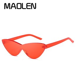 wholesale beautiful sunglasses Promo Codes - MAOLEN Sun Glasses Beautiful cat-eye sunglasses Lady retro sunglasses Women's cute sexy gorgeous glasses