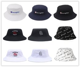 Wholesale bucket hat mens - 2018 brand Diamonds bucket hats floral leaf Hunting Fishing mens sports hiphop bobs gorras bones Champion Fisherman caps