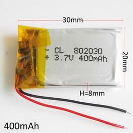 2019 аккумуляторные батареи сотовые телефоны 802030 3.7 В 400 мАч литий-полимерный LiPo аккумуляторные батареи питания для MP3 MP4 наушники DVD GPS мобильный телефон камеры psp игрушки дешево аккумуляторные батареи сотовые телефоны