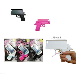 Wholesale Wholesale Gun Cases - For Iphone 5 5s Iphone 6 7 plus For Iphone X Gun Cases Creative 3D Gun Toy Back Cover Cell Phone Cases