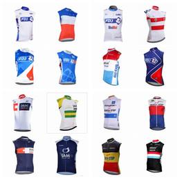 Wholesale Iam Cycling - FDJ IAM team Cycling Sleeveless jersey Vest Mtb Bike Clothing pro team men's cycling clothing ropa ciclismo D2710