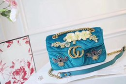 Wholesale Embroidered Fashion Handbags Tote Bags - Fashion Women Bag mirror quality Matelasse Handbags Designer Brand Vintage Shoulder Bag Embroidered Velvet Dionysuss Marmontt Totes 446744