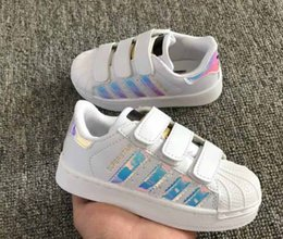 Wholesale Baby Brown Shoes - Skateboarding Shoes baby Casual Shoes Superstar Female Sneakers kids Zapatillas Deportivas Mujer Lovers Sapatos Femininos