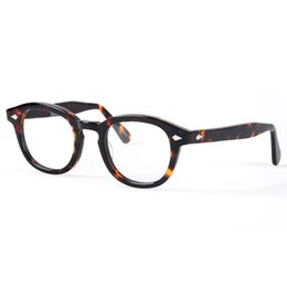 Wholesale Johnny Depp Lens - Optical Eyeglasses Frame Men Computer Johnny Depp Eye Glasses Spectacle Frame For Male Transparent Lens Armacao Oculos de YQ080