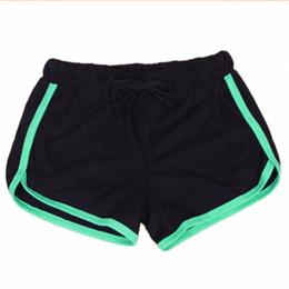 Elástico on-line-Mulheres Esportes Yo-Ga Shorts de Algodão Solto Binding Side Dividir Cintura Elástica Com Cordão Correndo Calças Curtas