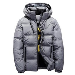 1a39f0c497 2018 New High Quality 90% White Duck Thick Down Jacket Men Coat Snow Parkas  Male Warm Brand Clothing Winter Hooded Down Jacket