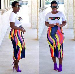 Produits féminins en Ligne-Robes Africaines Vêtements Africains Polyester 2018 Mode Femme Produits Imprimés Sac Hip Jupe Femmes Robe Ensemble