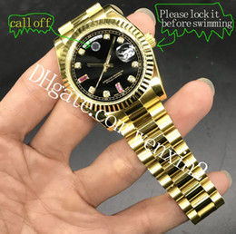 homens mecânicos ouro relógio de pulso Desconto 4 cores de ouro 18k presidente day-date cystal homens relógios movimento mecânico automático de diamante masculino relógio de pulso de aço inoxidável