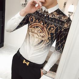 2018 seide bedruckte hemden Neueste Europäische Mode Herren Medusa Shirts  Flut Männer 3D Print Casual Shirts 6281e13431