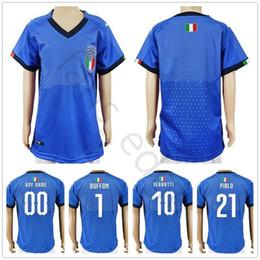 camiseta casa italia Rebajas Camisetas de fútbol de Italia para niños  BUFFON INSIGNE ZAZA PIRLO INMOBILE 01cd835aa38cb