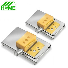 Wholesale making desserts - Cheese Slicer Butter Cutting Board Stainless Steel Wire Making Dessert Blade Durable Tool Kitchen Cooking Serving Baking Tools