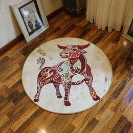 Wholesale Round Chair Cushions - Twelve Constellation Circular Carpet Living Room Children's Room Computer Study Chair Cushion Circular Bedroom Bedside Blanket Bath Mat Rugs