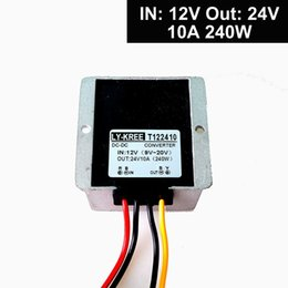 Wholesale 12v Input Power Supply - Car Auto DC 12v to 24v Step up Converter Regulator 10A 240W Power Supply Adapter (Accept DC9-20V Inputs)