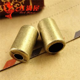 A3758 8 * 12 * 5 * 3MM Zink-Legierungsüberzug metallischer Bronzehängender Schmucksachezusätze Großhandelslederkorne-Kappencharme von Fabrikanten