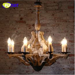 Wholesale Country Wooden - FUMAT The New Antique Retro American Country Wooden Pendant Light Creative Bar Light Restaurant Sitting Room Light Free Shipping