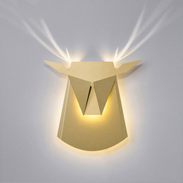 Lights & Lighting Shop For Cheap Wall Lamp Creative Nordic Living Room Bedroom Hallway Corridor American Modern Minimalist Lamp Antlers Light Led Indoor Wall Lamps