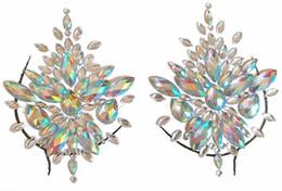 Etiqueta tribal on-line-2018 Bindi Adesivo Boho Escolhido A Mão E Estilo Tribal Decoração Do Corpo Adesivo pode ser Vara Em Self Adhesive Gems Peito mamilo