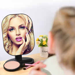 Wholesale Glass Dyes - Led Lighted Table LampMakeup Mirror Vanity Mirror Touch Screen with Natural Daylight Cosmetic Countertop Mirror with 20 Led Lights for women