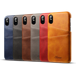 Wholesale Wholesale Phone Business - Luxury Fashion Business Style Wallet phone Case For iphone 7 With Credit Card pokect Slots leather Cases Cover for cell phone