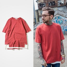 Wholesale Japanese Style T Shirt Men - Japanese Style Hip Hop Cartoon Mens Summer Tees Shirt Patchwork Short Sleeve T shirt High Streetwear T-shirt Men Fashion Clothing