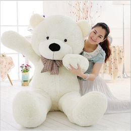 большой белый медведь чучела животных Скидка ГИГАНТ Белый Плюшевый мишка Большой Огромный Мягкий Плюшевая Игрушка Животного Потрясающий Подарок 47