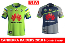 Wholesale National Hot - Hot sales new CANBERRA RAIDER S 2018 Home away rugby Jerseys NRL National Rugby League rugby shirt nrl jersey canberra raider s shirts