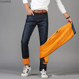 Wholesale Young Wind - New Men Plus Cashmere Jeans Thicken Businessman Wind Big Yards Young Students Thickening Warm Denim Trousers Size 28-38