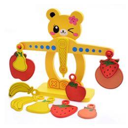 Wholesale Wooden Balance - Wooden Montessori children's teaching AIDS balance game kindergarten early education fruit digital balance puzzle toys
