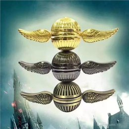 Wholesale Copper Spinners - Hot Sell fidget Spinner Harry Potter Golden Snitch Fidget Spinners Rainbow Metal Copper Cupid Angel Wing Decompression Toy finger Gyro