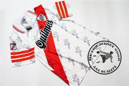 Wholesale river free - Free shipping 1996-98 retro River Plate Home Shirt old soccer jersey