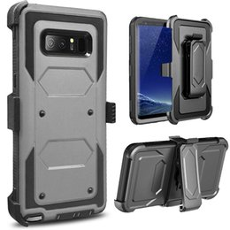 Wholesale plastic belt clips - Heavy Duty Belt Clip Holster Hybrid Armor 3 in 1 Case NO Screen Protector Stand For Samsung S6 S7 Edge S8 Plus Note 5 8 Grand Prime G530