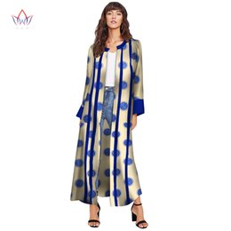2018 African Fashion Autumn Plus Size Women Trench Coat Traditional African  Wax Print Clothing Dashiki Casual Outwear WY3154 ab178abb6244