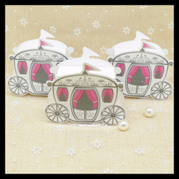 Wholesale Cinderella Carriage Candy Boxes - Wholesale- 50 pcs lot, Hot Sale Cinderella Enchanted Carriage Marriage Box Wedding Favor Boxes Gift Box Candy Box