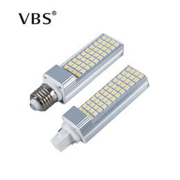 Wholesale E27 Light Bulb Led 13w - LED Bulbs 5W 7W 9W 11W 13W E27 G24 LED Corn Bulb Lamp Light SMD 5050 Spotlight 180 Degree AC85-265V Horizontal Plug Light