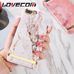Wholesale Iphone Glossy Case - LOVECOM Glossy Marble Phone Case For iPhone 6 6S 7 8 Plus X Fashion Gold Bar Classical Marbles Back Cover Hard PC Cases Hot