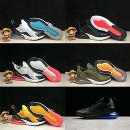 Wholesale Lace Punch - 2018 Newest 270 Flair Hot Punch Triple Black Medium Olive Midnight Navy Women Mens Men Running Shoes Trainers sports designer Sneakers