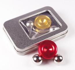 2020 mini bolas magneticas Spinner magnético Fidget Orbiter con 2 bolas de acero Imanes de neodimio 4 colores SUS Hand Spinner EDC Novedad Fidget Spinner Decompresión Juguetes mini bolas magneticas baratos