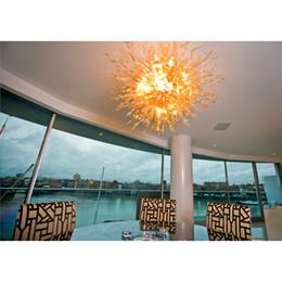 Plafoniere in vetro di Murano trasparenti Sun Rise Color 100% vetro soffiato a mano a sospensione per arredo casa ufficio da ha portato la lampadina fornitori