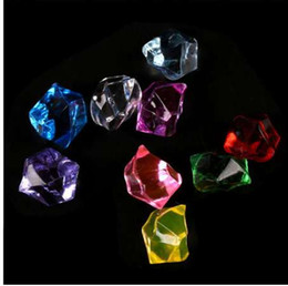 Wholesale craft crystal gem stones - Home Decor Ornament Craft Gift Rhinestones Acrylic Crystal Gem Stone ICE Rocks Table Scatter Vase Decoration